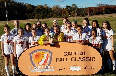 Twenty-six teams claim division titles at 2017 Capital Fall Classic Girls Weekend